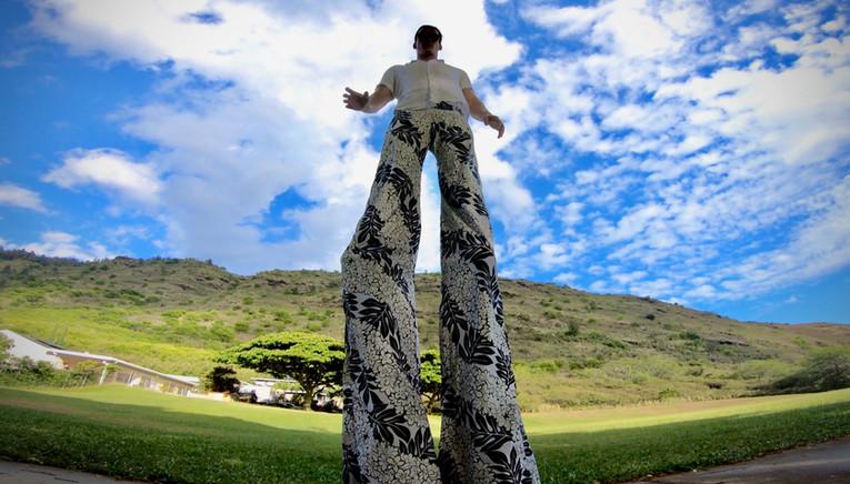 Hawaiian Floral Men's Stiltwalker