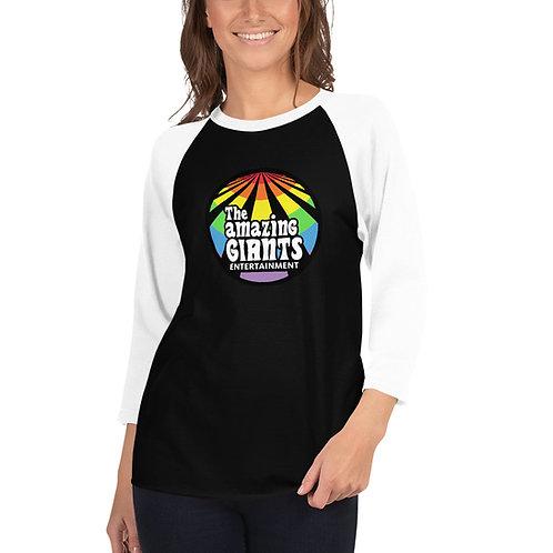 The Amazing Giants Rainbow Logo Unisex 3/4 T