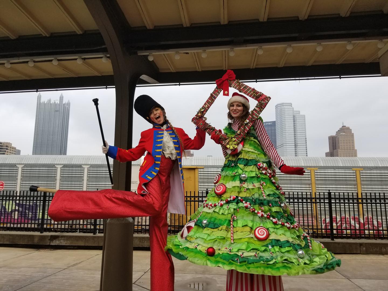 Christmas Themed Stilt Walkers