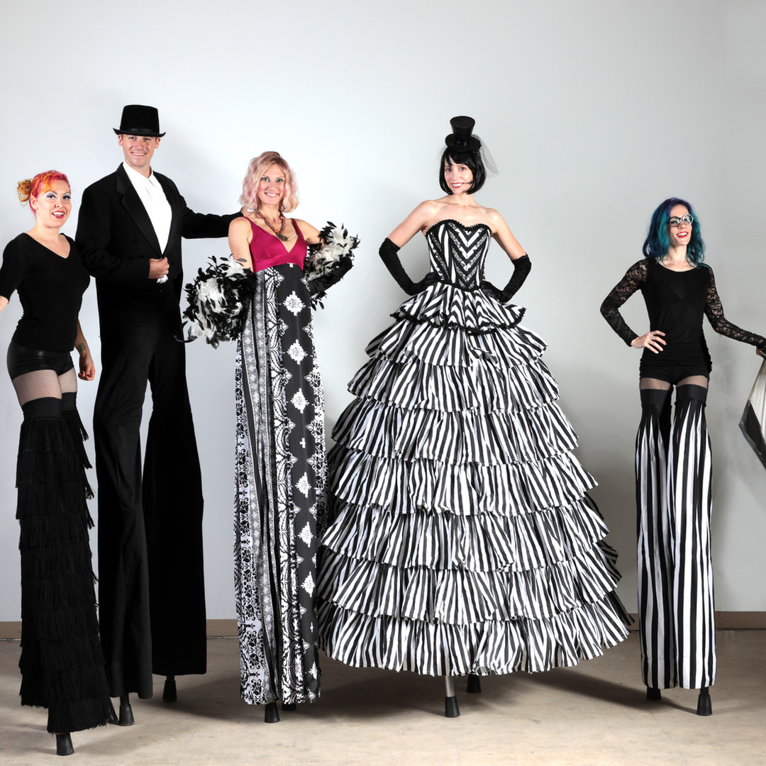 Black Tie White Stripes Stiltwalker