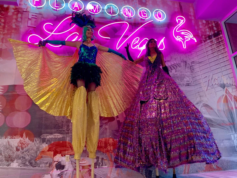 Showgirl Stiltwalkers In Las Vegas