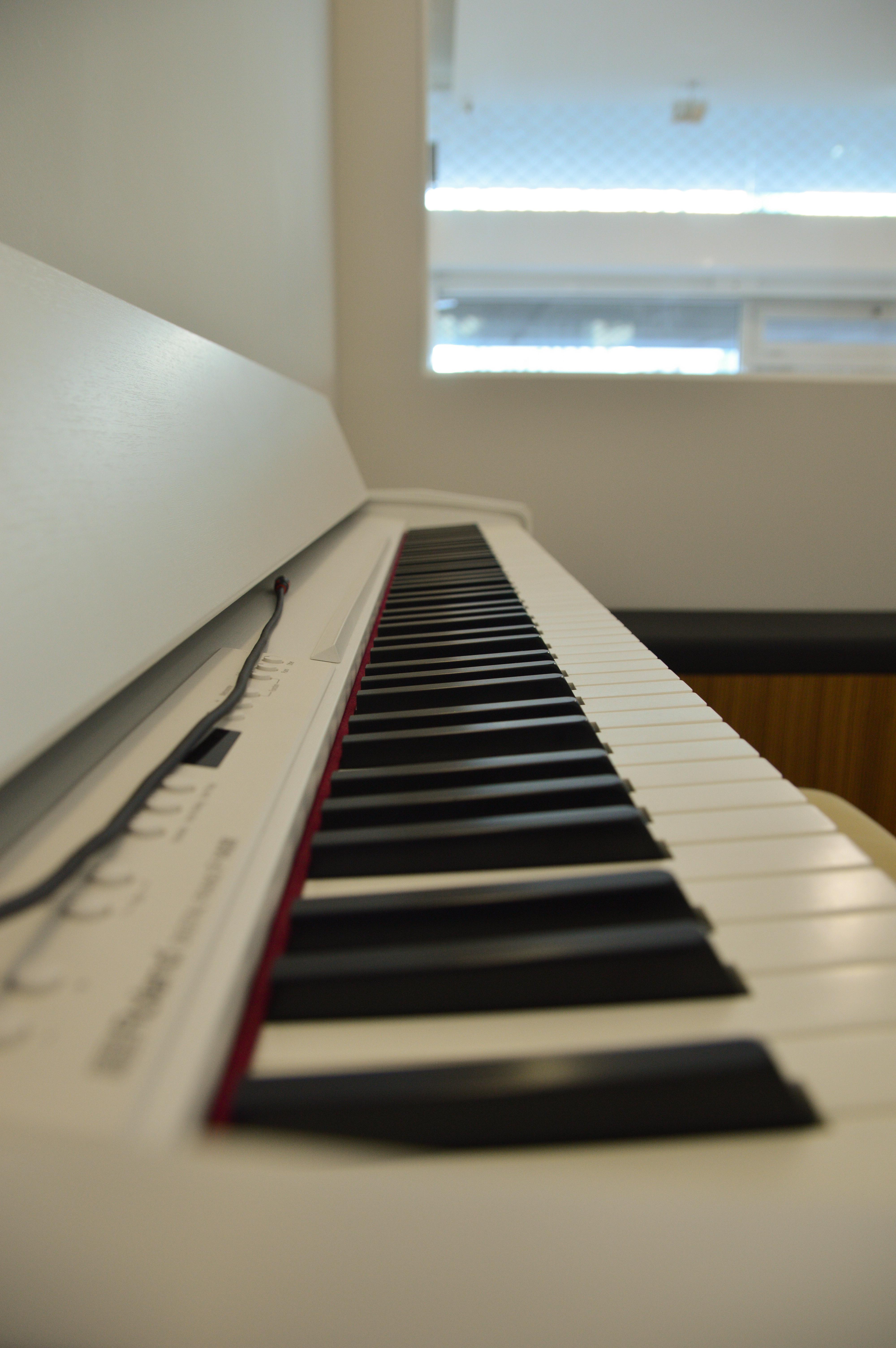 Piano na Sala Branca