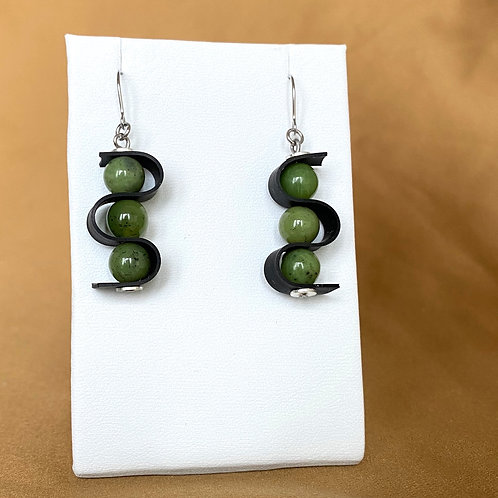 Jade swag earrings