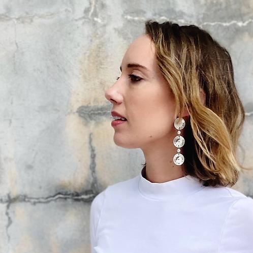 Cut out watch face earrings