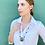 Thumbnail: Watch rim necklace with zebra jasper and onyx