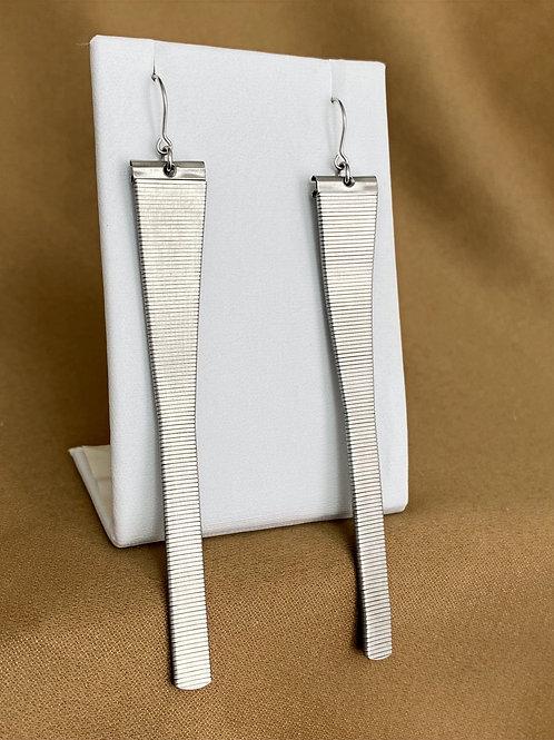 Extra length mesh watch band earrings