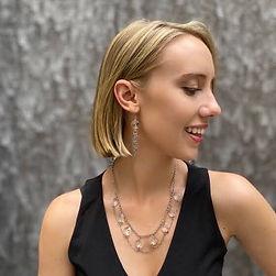 Mary crystal collar necklace.earrings.JP
