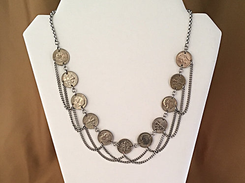 Dime laced necklace.