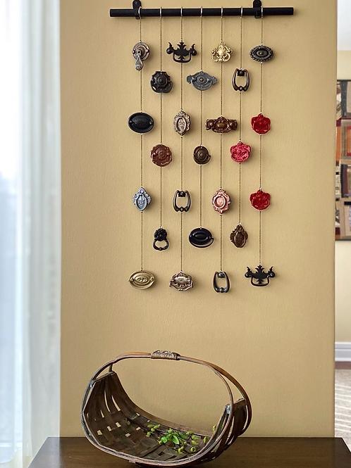 Brass Knob Hardware hanging