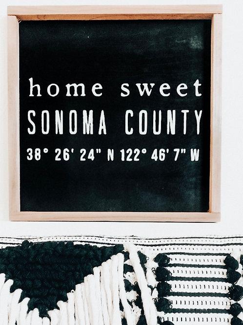 Sonoma County Coordinates