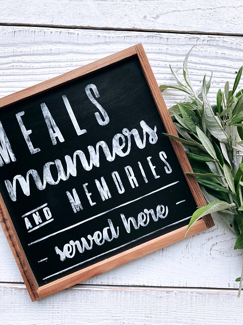 Meals, Manners, Memories