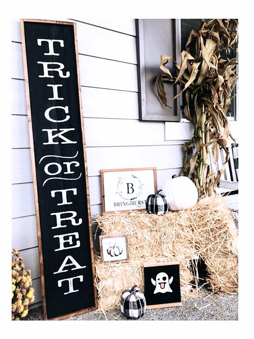 Trick-or-Treat Porch Sign