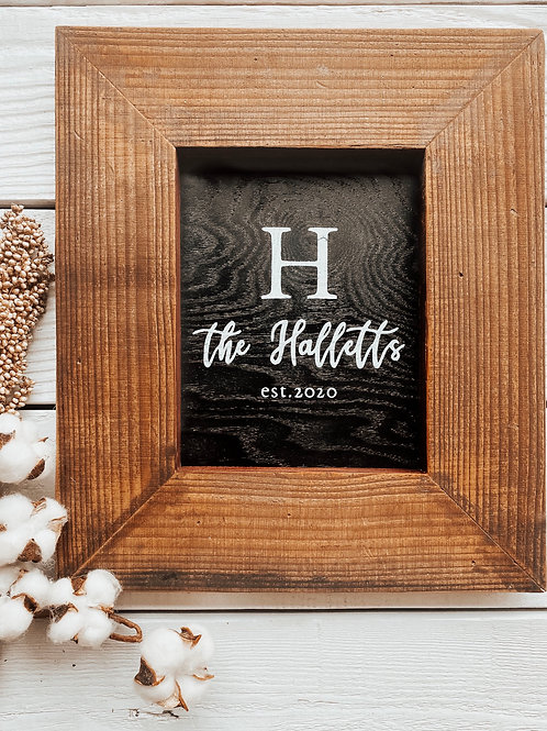 Wide Frame Family Sign