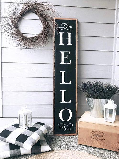 'Hello' Porch Sign
