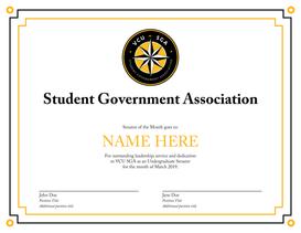 SGA Certificate