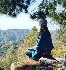 Meditating in Spain