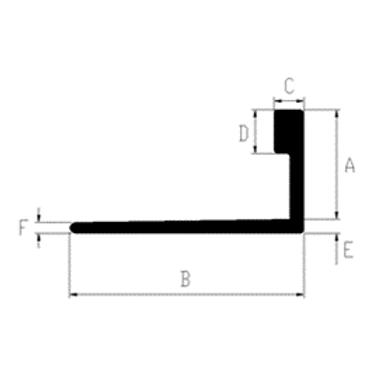 Aluminum Angle Tile Trim 8 pc