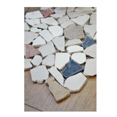 Autumn Pebble Stone Mosaic
