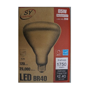BR20, BR30, and BR40 Type LED Bulbs