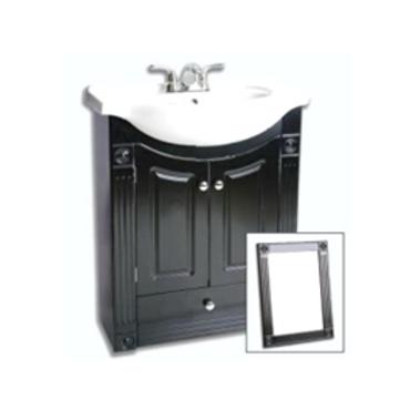 Two Door Vanity with Mirror - Black - VMDC001-650