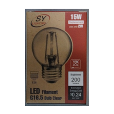 G16.5  Type LED Filament