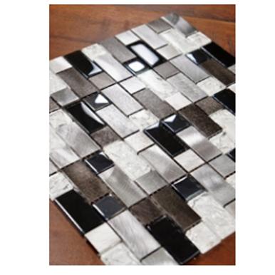 Interwoven Aluminum and Glass Mosaic