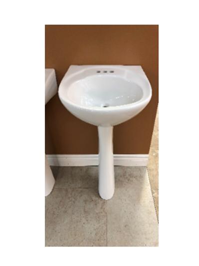White Pedestal Sink
