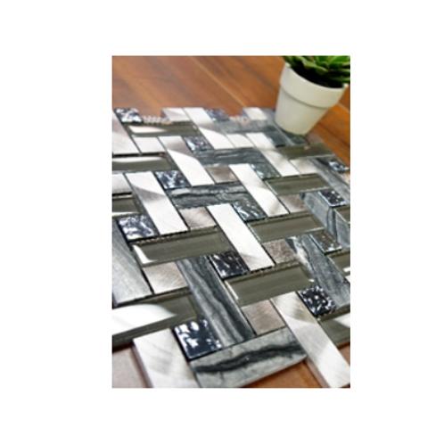 Opal Basket Aluminum & Glass Mosaic