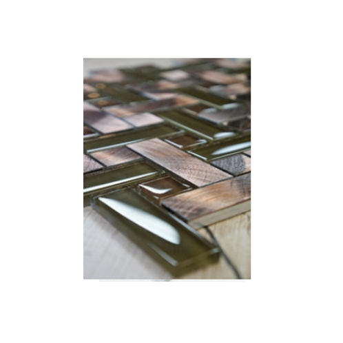 Copper Basket Aluminum & Glass Mosaic