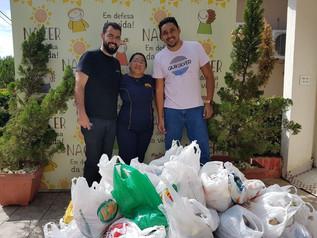 Abrigo NACER recebe mais de meia tonelada de alimentos arrecadada por escola