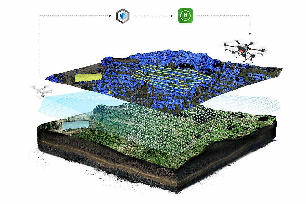 Внесение средств защиты растений с помощью дронов