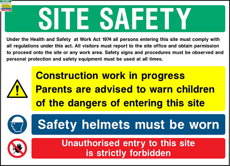 Site Safety Construction Work In Progress