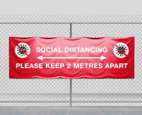 Social Distancing Message Banner