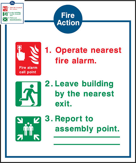 Fire Action Icons Sign