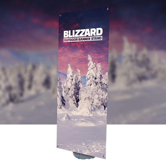 Blizzard Outdoor Banner Display