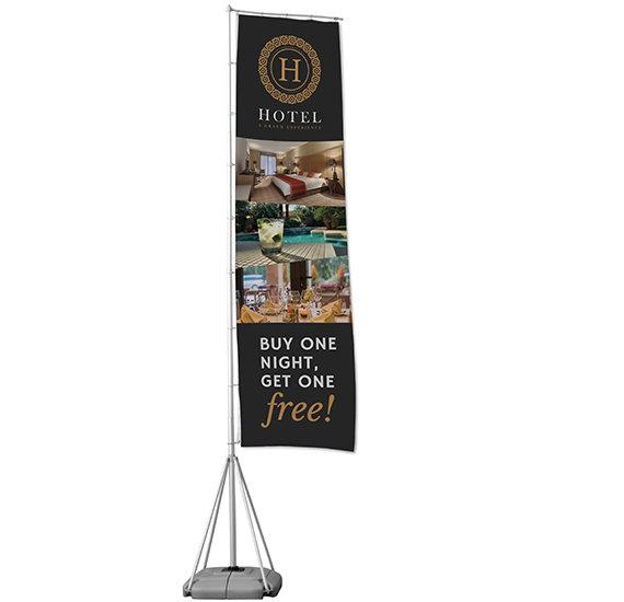 Giant Pole Advertising Flag