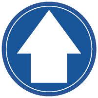 One Way Arrow Floor Removable Floor Stickers