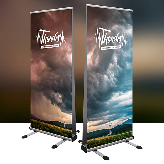 Thunder Outdoor Pull Up Banner Display