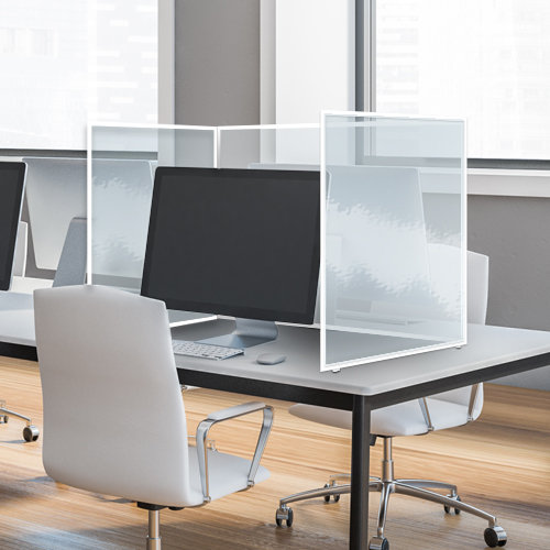 Folding Clear Protective Desk Screen