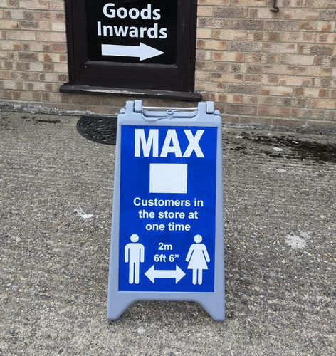 Outdoor Social Distancing Water Filled Sign