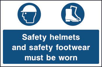 Safety Helmets & Footwear Sign