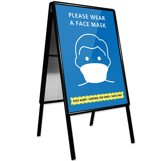 Wear A Face Mask Pavement Sign