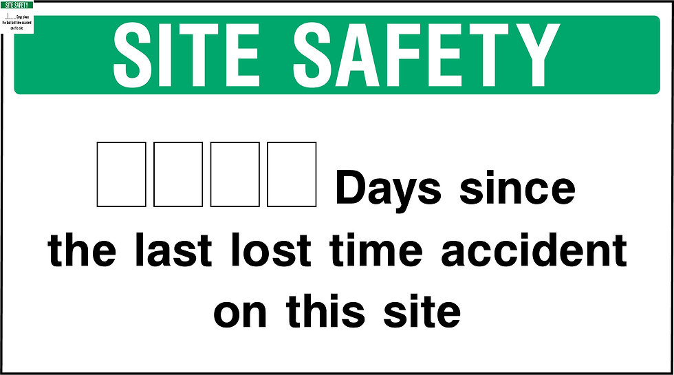 Site Safety Accident Counter Sign