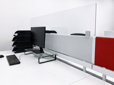 Protective Clear Desk Divider Extension Screens