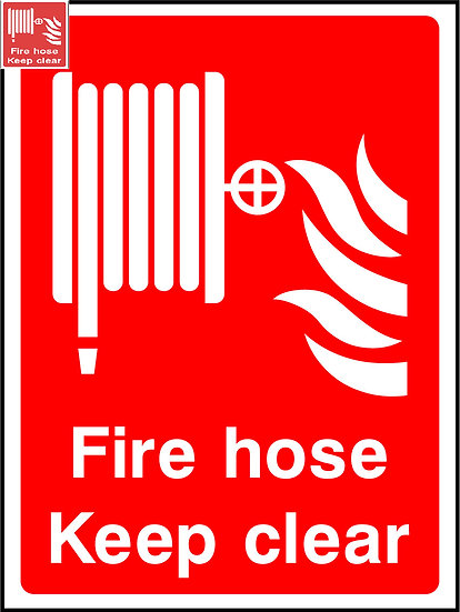 Fire Hose Keep Clear Sign