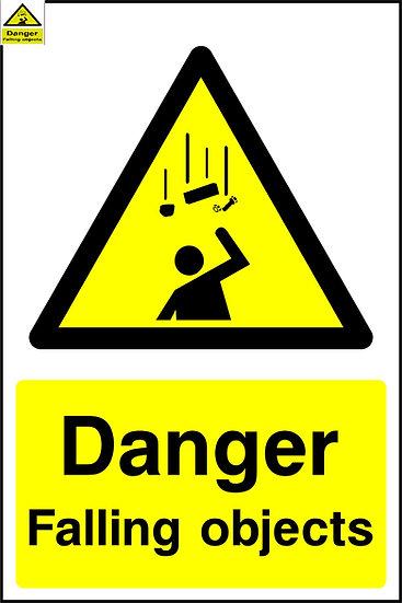 Danger Falling Objects Warning Sign
