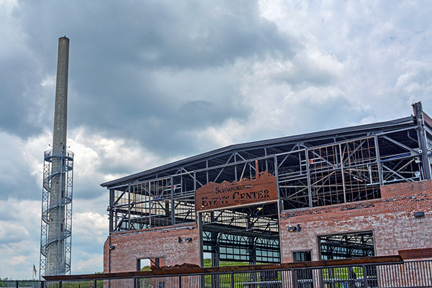 Rastin Observation Tower and Event Center at Ariel Foundation Park in Mount Vernon Ohio