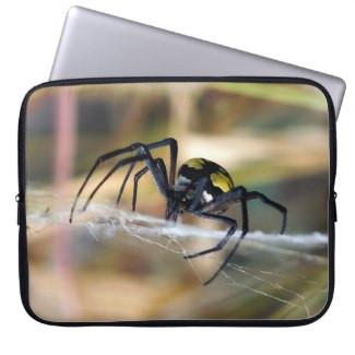 Black & Yellow Argiope Garden Spider Laptop Sleeve
