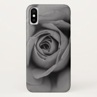 Monochromatic Rose iPhone Case