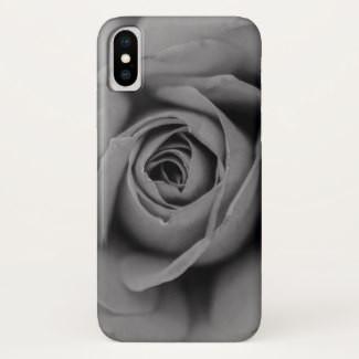 Monochromatic Rose iPhone Case